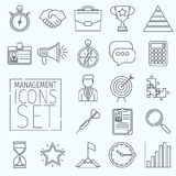 Line icons management Stock Photography