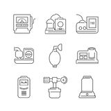 Line Icons Medical Device Icon Set of Operating Room Royalty Free Stock Photos
