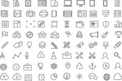 Line icons office Stock Photos