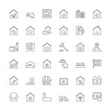 Line icons. Real estate Stock Image