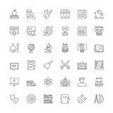 Line icons. School Stock Images