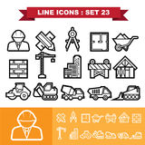 Line icons set 23 Stock Photos