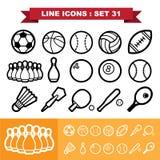 Line icons set 31 Stock Image