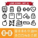 Line icons set 32 Royalty Free Stock Photo