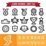 Line icons set 33 Royalty Free Stock Photos