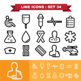 Line icons set 34 Royalty Free Stock Photography