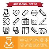 Line icons set 35 Royalty Free Stock Photo