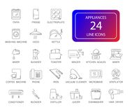 Free Line Icons Set. Appliances Pack. Royalty Free Stock Photography - 111818357