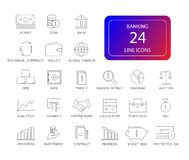 Line icons set. Banking pack. Vector illustration Royalty Free Stock Image