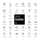 Line icons set. Banking. Pack. Vector illustration Royalty Free Stock Photo