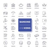 Line icons set. Banking. Pack. Vector illustration Royalty Free Stock Photography