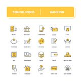 Line icons set. Banking. Pack. Vector illustration for save and transfer money vector illustration