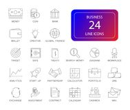 Line icons set. Business pack. Vector illustration Stock Photography