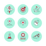 Line icons set for business, start-up, management Stock Photography