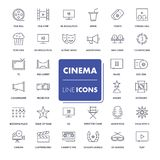 Line icons set. Cinema Stock Images