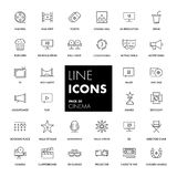 Line icons set. Cinema. Pack. Vector illustration Royalty Free Stock Photos