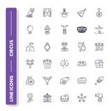 Line icons set. Circus. Pack. Vector illustration Stock Photo