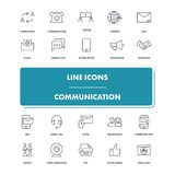 Line icons set. Communication. Pack. Vector illustration for  communion with people, social networks Royalty Free Stock Photos