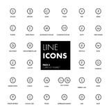 Line icons set. Currency market. Vector illustration Royalty Free Stock Photos