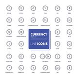 Line icons set. Currency market. Vector illustration Stock Photos