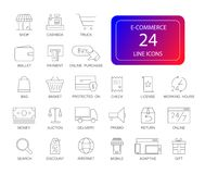 Line icons set.  E-commerce pack. Vector illustration Royalty Free Stock Photography