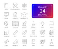 Line icons set. Education pack. Vector illustration royalty free illustration