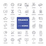 Line icons set. Finance. Pack. Vector illustration Stock Photo