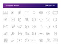 Line icons set. FInance and Money pack. Vector illustration Royalty Free Stock Photos