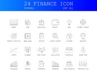 Line icons set. FINANCE pack. Vector illustration Stock Images
