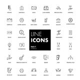 Line icons set. Finance. Pack. Vector illustration Stock Photography