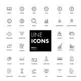 Line icons set. Finance. Pack. Vector illustration Royalty Free Stock Images
