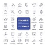 Line icons set. Finance. Pack. Vector illustration Stock Images