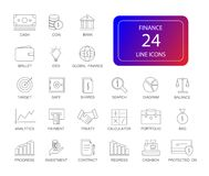 Line icons set. FInance pack. Vector illustration Stock Photos