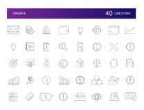 Line icons set. FInance pack. stock illustration