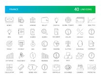 Line icons set. Finance pack. Vector illustration Royalty Free Stock Images