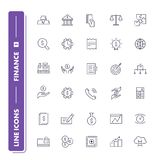 Line icons set. Finance. Pack 2 . Vector illustration with money for banking, investment  and transactions Stock Images