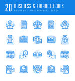 Line icons set. Flat thin linear stroke vector Business concepts. Royalty Free Stock Photos
