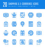 Line icons set. Flat thin linear stroke vector Shopping concepts Stock Photography