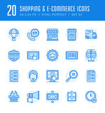 Line icons set. Flat thin linear stroke vector Shopping concepts Stock Photo