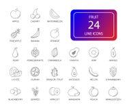 Line icons set. Fruit pack. Vector illustration stock illustration