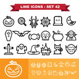 Line icons set 41 Royalty Free Stock Image