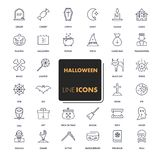 Line icons set. Halloween Royalty Free Stock Images
