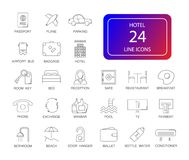 Line icons set. Hotel pack. Vector illustration Royalty Free Stock Photography