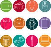 Line icons set. icons for business, management. Line icons set. icons for business and management Stock Photography