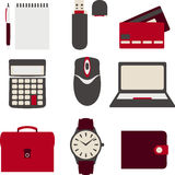 Line icons set. icons for business, management. Line icons set. icons for business and management Royalty Free Stock Images