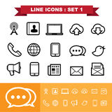 Line icons set 1 Royalty Free Stock Images