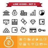 Line icons set 5 Stock Photo