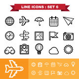 Line icons set 6 Stock Images