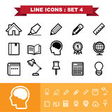 Line icons set 4 Stock Photography