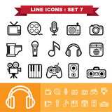 Line icons set 7 Stock Photos